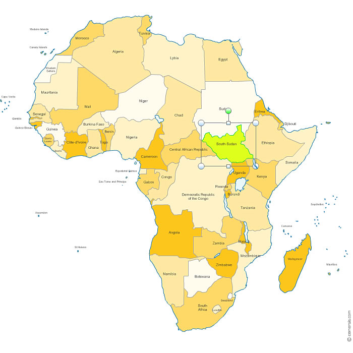 Vector map of Africa countries