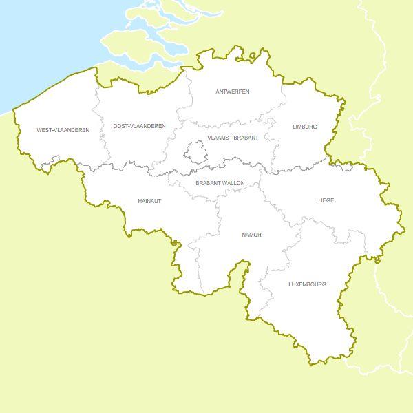 Belgium provinces free vector map – Belgium Provinces Map