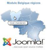 carte interactive de Belgique paramétrable pour Joomla