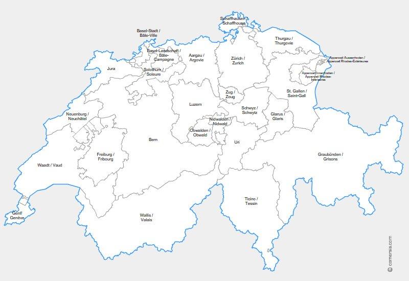 cantons de Suisse pour Excel, Word et Powerpoint