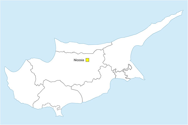 de Chypre avec districts gratuite