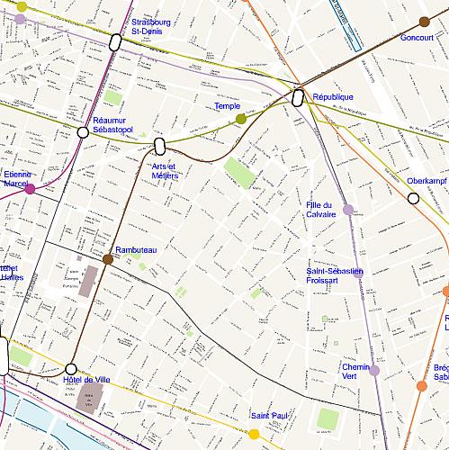 Carte plan du 3eme arrondissement de paris for Agence immobiliere 3eme arrondissement paris