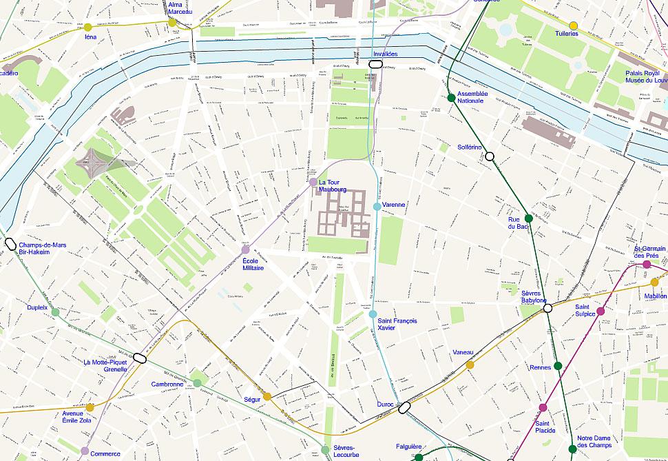 Carte de paris - Chambre d hote paris 7eme arrondissement ...