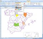Spain provinces map for Word, Powerpoint and Excel