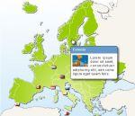 cliquable d' Europe html avec bulle info CSS
