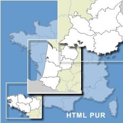 France html pur avec zoom sur régions et dom tom