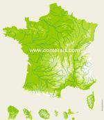 relief de France vectoriel