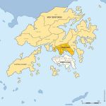Hong Kong districts map for Word and Excel