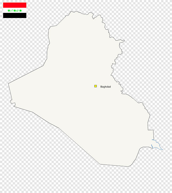 Fond de carte gratuit de l'Irak