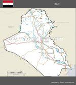 routes et villes d'Irak