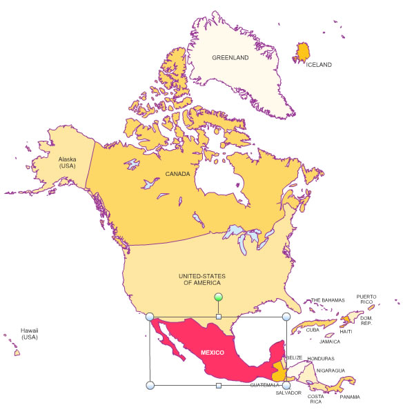 North American Countries Map images