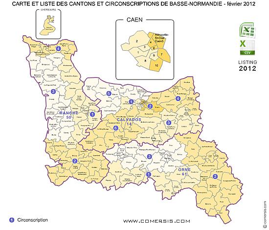 Cartes basse normandie for Haute normandie basse normandie