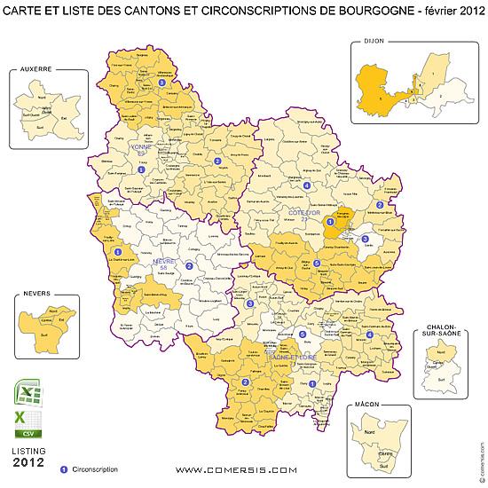 Info • carte de bourgogne • Voyages - Cartes