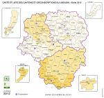cantons du  Limousin