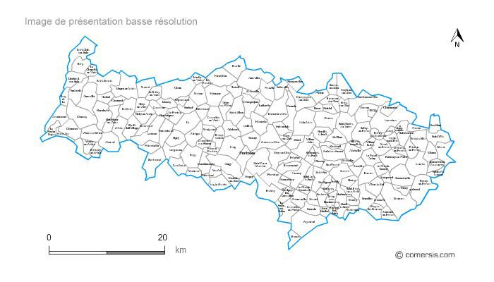 Liste des communes cantons et communaut s de communes du for Liste communes oise