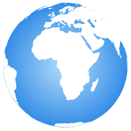 africa centered earth globe
