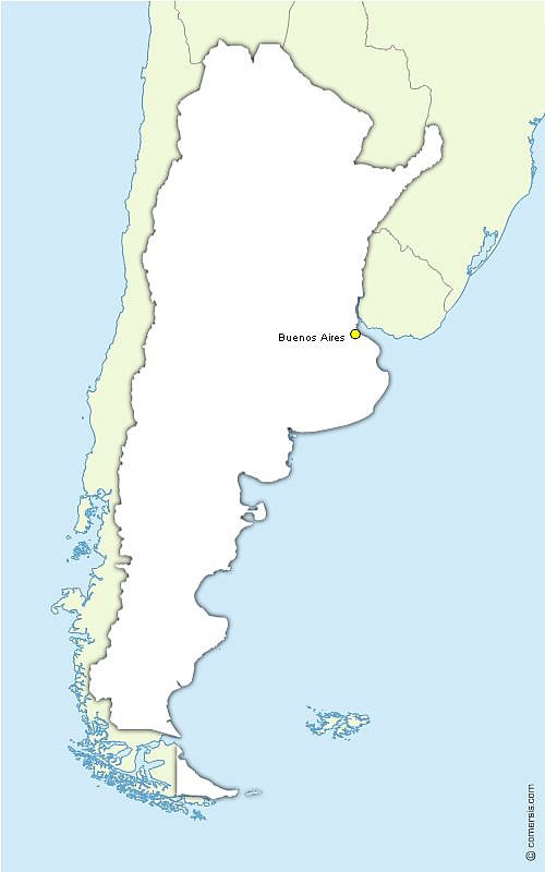 Vector base map of Argentina free