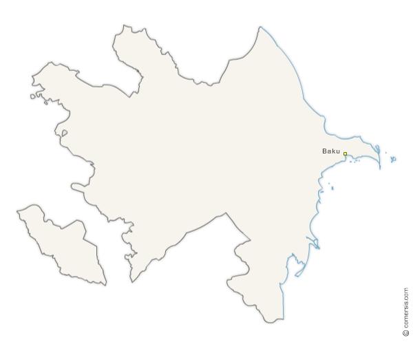 Free vector and raster map of Azerbaijan