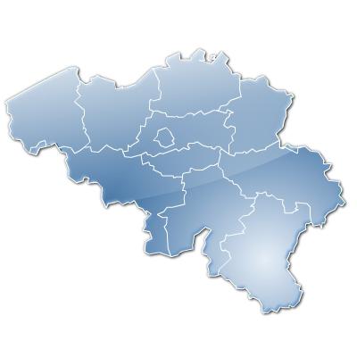 Stylised map of Belgium provinces