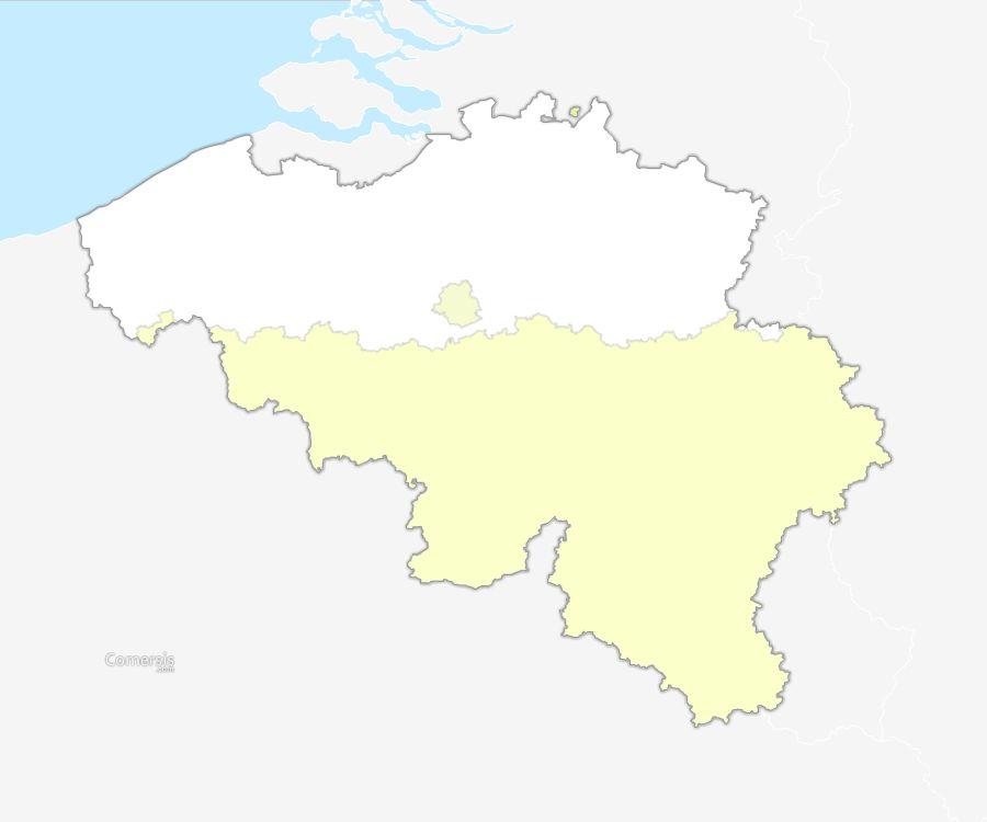 free vector map of belgium regions