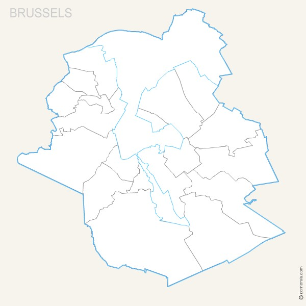 Brussel province map with capital.