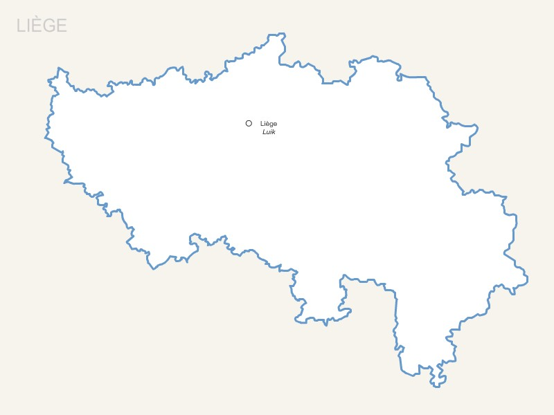 Luik province map with capital.