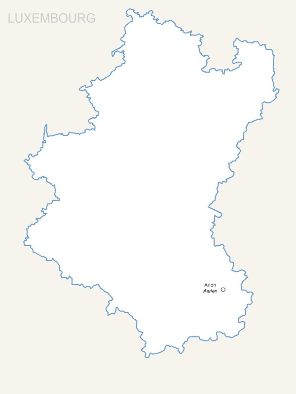 Luxemburg province map with capital.