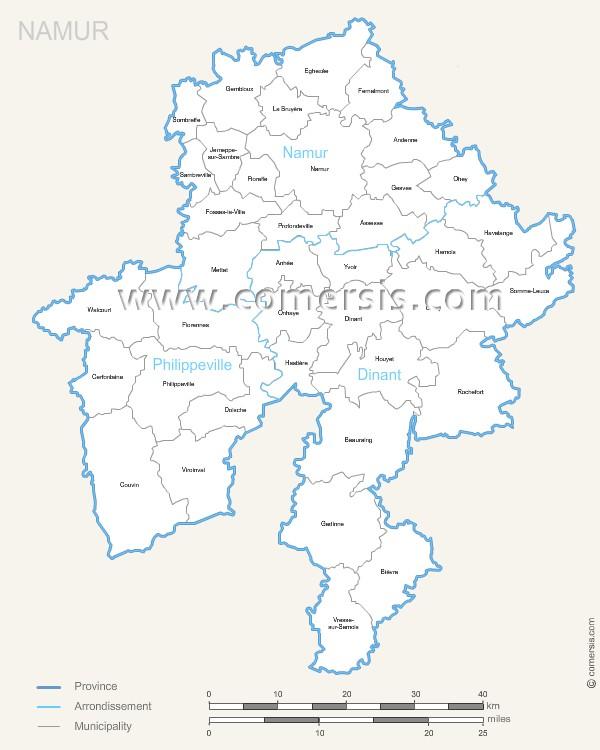 communes de Namur