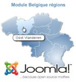 Clickable map of Belgium manageable for Joomla