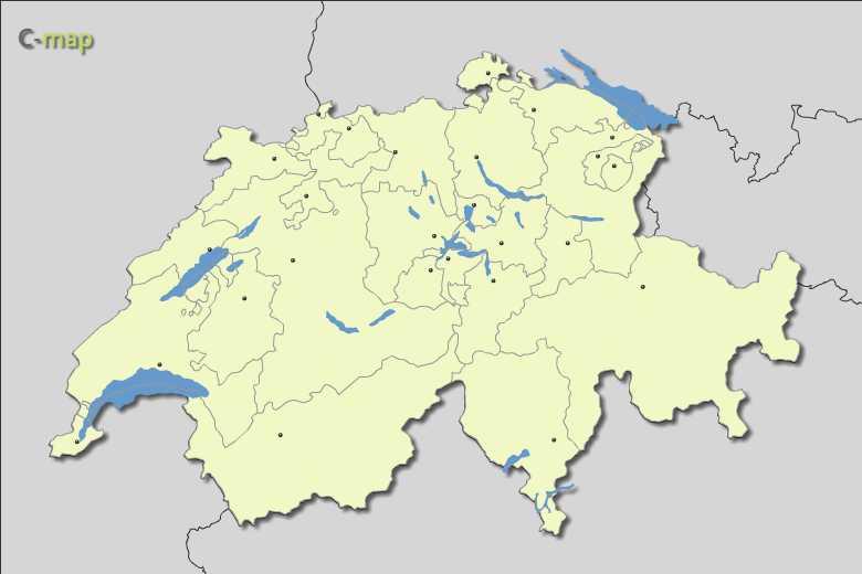 Vector Map of Switzerland