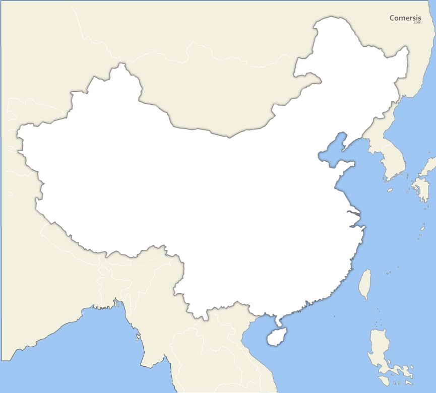 Blank Map Of China Provinces.Blank Vector Map Of China Free