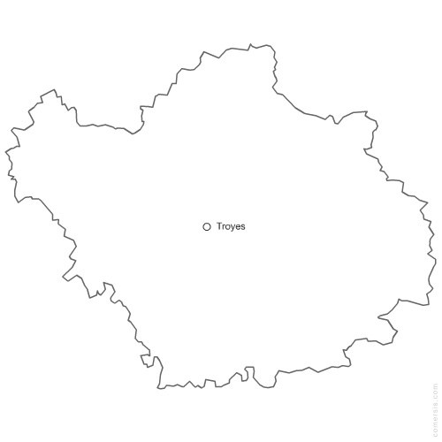 10 Aube french department vector map