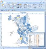 Quartiers et arrondissements de Marseille Excel macro