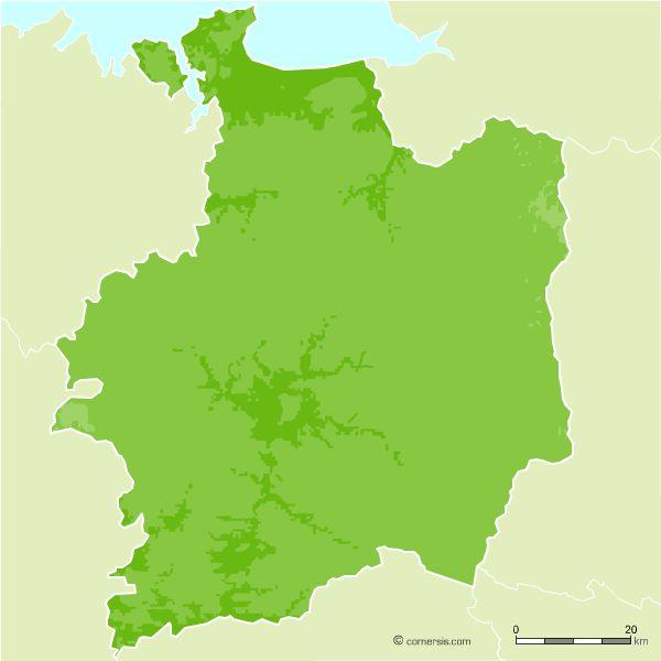 Ille et Vilaine vector relief map
