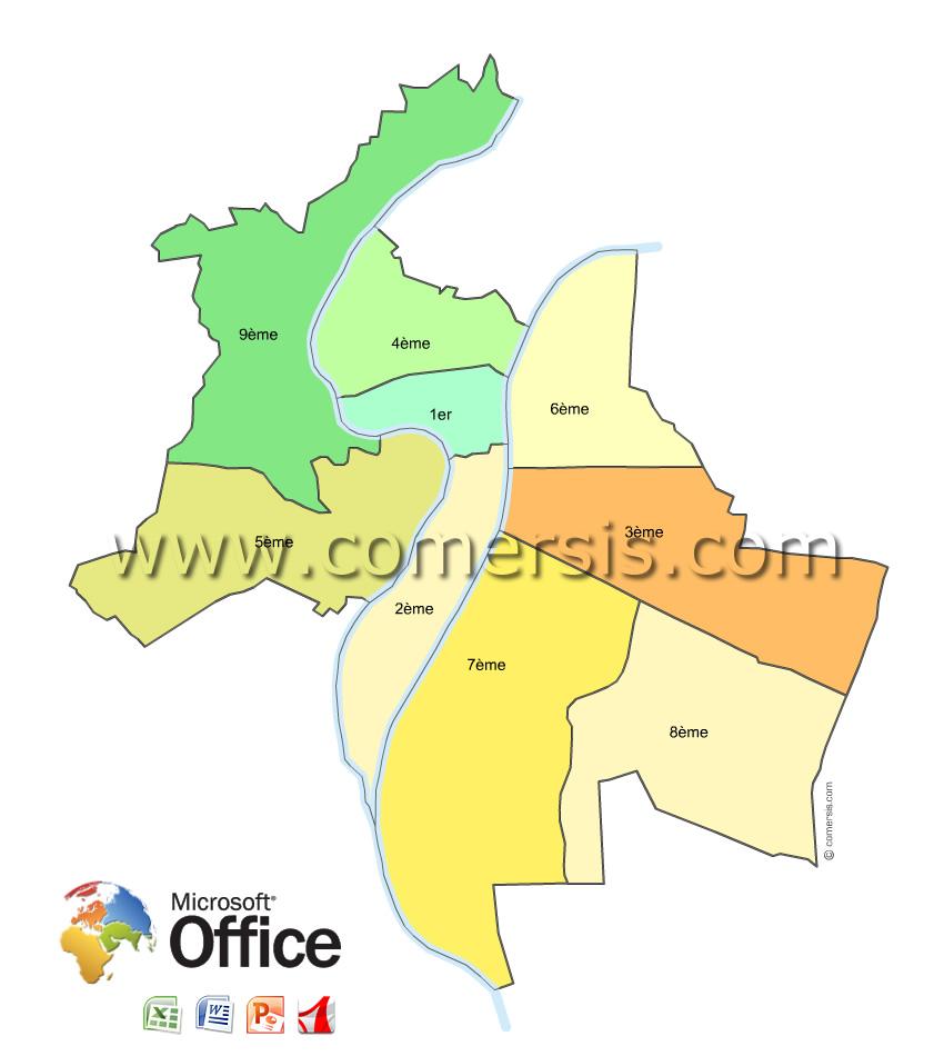 Arrondissements de Lyon pour Office