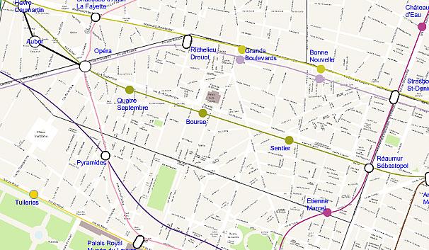 Paris 2nd arrondissement map plan