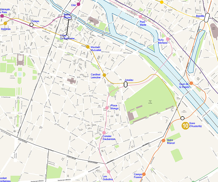 Paris 5th Arrondissement Map Plan