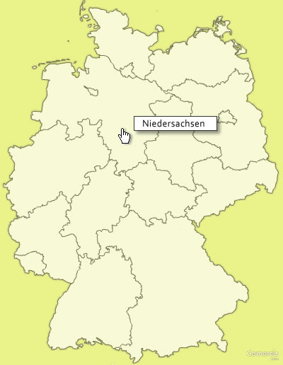free clickable map of germany regions