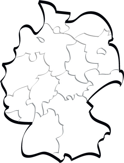 Germany stylised vector map