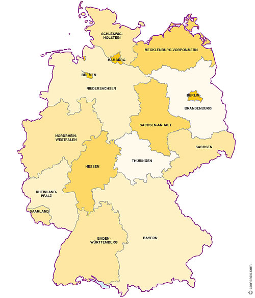 excel and word editable map of germany states