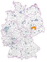 Excel and Word editable map of Germany counties