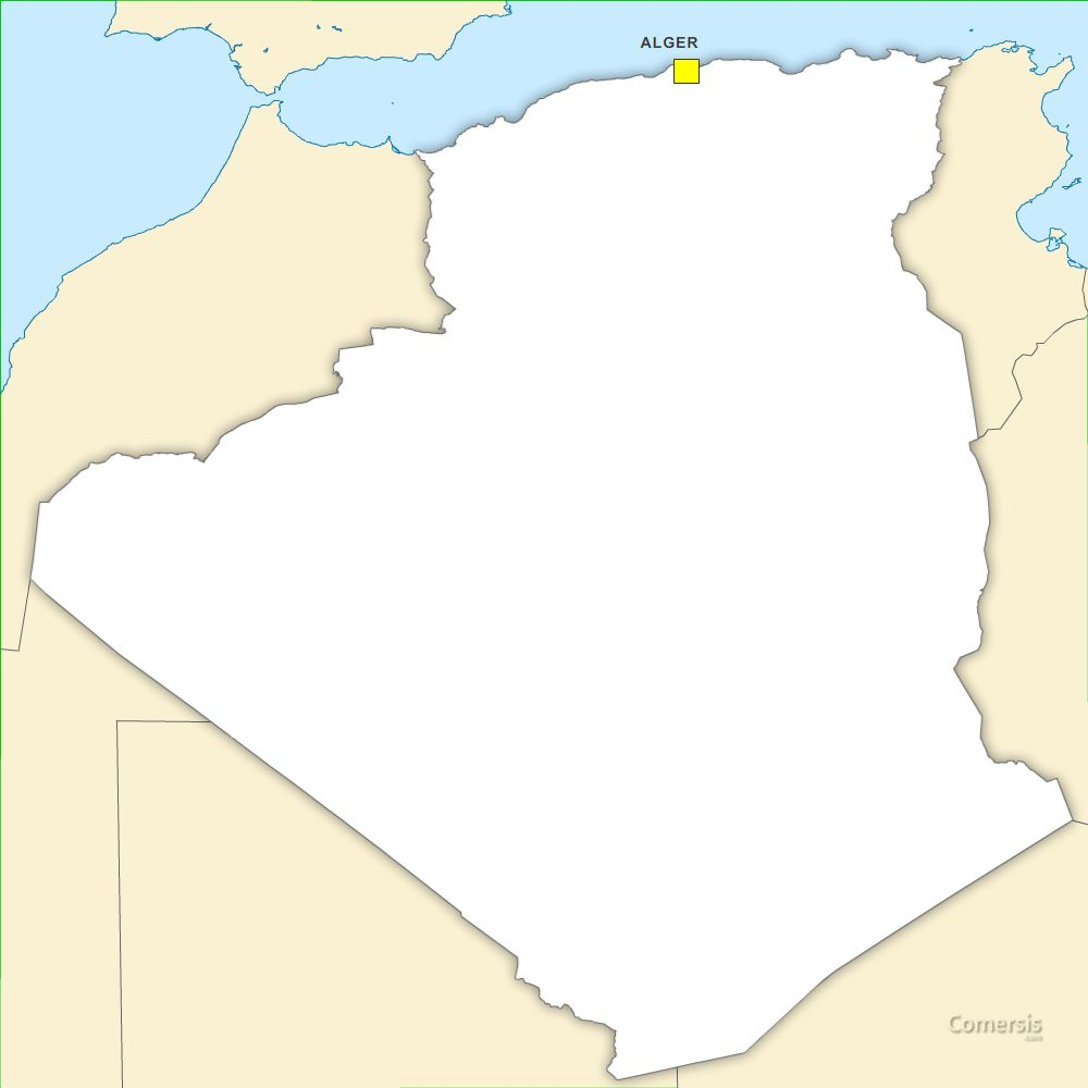 Carte Algeria Vector.Free Vector Map Of Algeria