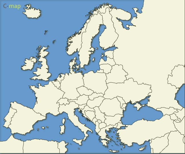 free vector Map of Europe countries