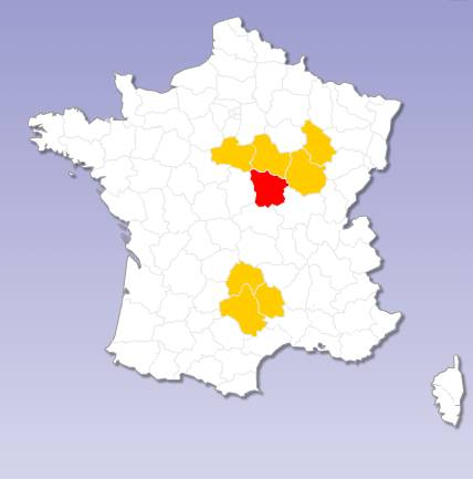 Ajax, Flash interactive map of France multiple selections