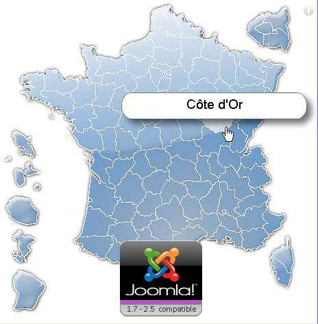 Clickable France departements map module for Joomla