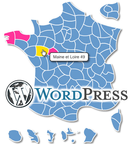 departements de France pour Wordpress
