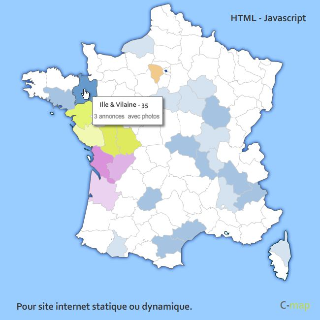 interactive cliquable html javascript avec coloration et bulle info