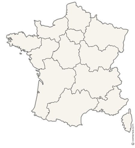 new regions of France Office map