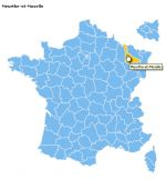 Responsive map of France departements
