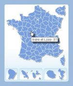 Clickable map of French departments - Ready to use